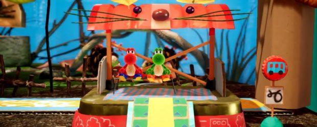 Yoshis neustes Abenteuer findet in einer Welt voller Alltagsgegenstände aus Pappe statt. So müssen die Spieler Hindernisse überwinden, Feinde verschlucken...