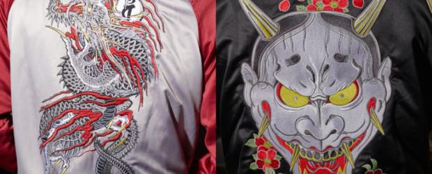 Die Sukajan-Jacken lassen sich dabei am ehesten mit den typischen College-Jacken vergleichen, doch statt der üblichen Logos und Embleme, zieren die Yakuza...