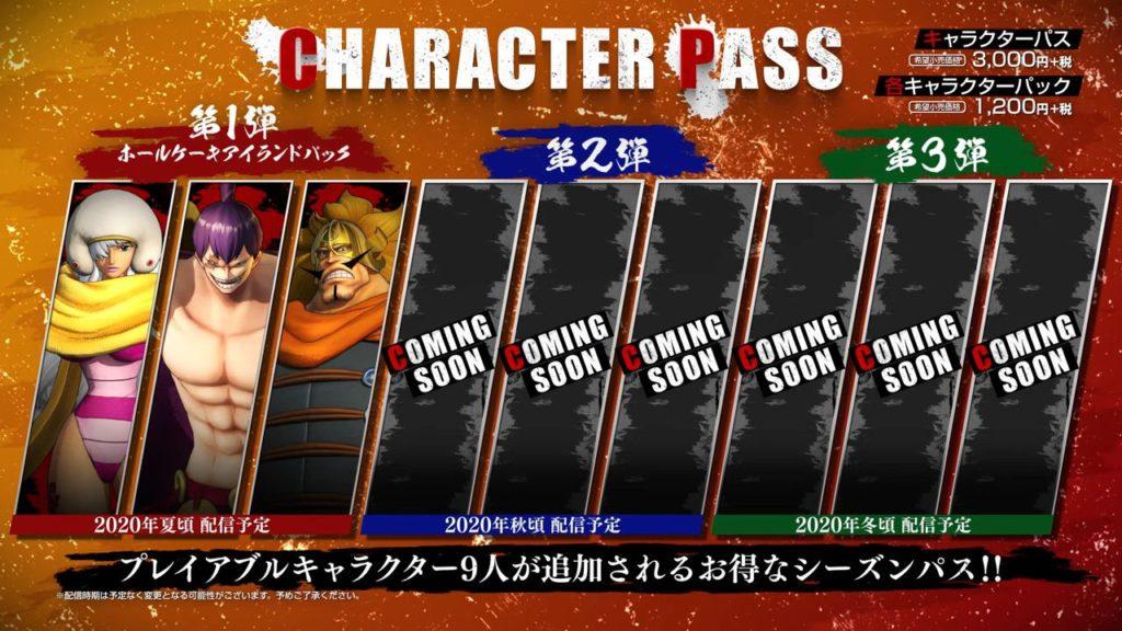 One Piece Pirate Warriors 4 Charakter DLCs